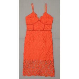 necessary Objects Women's Sleeveless Crochet Lace Midi Sheath Dress
