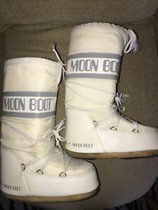 Moon Boots Size 6 - 8 White The Original Tecnica Eur 39-41 Unisex Men Women