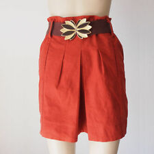 Sportsgirl Open Pleat Red Skirt with Belt 8