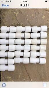 HEP 20. Push Fit 15mm Wavin Straight Connectors X 19 Job Lot . Brand New