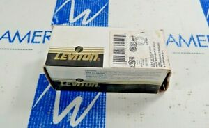 LEVITON 2620 BLACK FLUSH MOUNT RECEPTACLE 2P 3W SINGLE LOCK  NEW