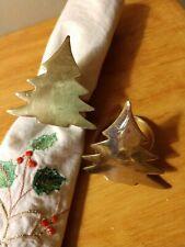 10 KEMP & BEATLEY Brass CHRISTMAS TREE 🎄 SHAPE  Napkin Rings, Made in India