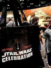 """Exclusive Star Wars Celebration Orlando 2017 Con Tote Bag 24"""" Dual Sided Art"""