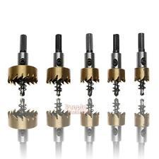 5Pc 16-30mm Hole Saw Cutter Drill Bit Set HSS Sheet Metal Reamer Wrench Tool Kit