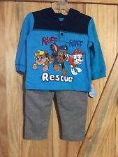 Nickelodeon 2 Piece Paw Patrol Blue Hooded Boys Outfit Size 12 Months