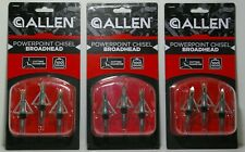 Hunting Allen Powerpoint Chisel Broadheads 3 Pack Lot Of 3 Mip