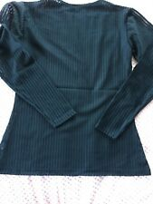 Unusual Long sleeve black stretchy sheer top size 8 Bnwot