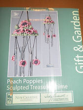 Gift & Garden Sculpted Peach Poppies Treasure Wind Chime Judy Buswell Collection