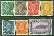 EDW1949SELL : CANADA 1932 Scott #195-201 Choice VF-XF MNH set PO Fresh. Cat $311