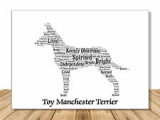 Toy Manchester Terrier, Personalize Dog Lover Gift For Custom Pet Portrait