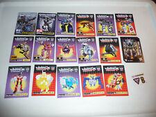 Transformers Encore 17 21 22 Shattered Glass Soundwave - BIG tech card lot