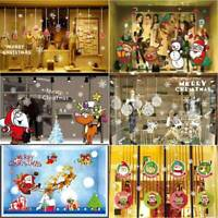 Frohe Weihnachten Serie Wandaufkleber Santa Elk Fenster Aufkleber Dekor eNwrg