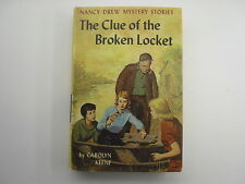 Nancy Drew #11, The Clue of the Broken Locket, Picture Cover, BCE
