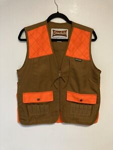 Gamehide YCV Brown Blaze Orange Mens Bird Hunting Shotgun Vest L Large