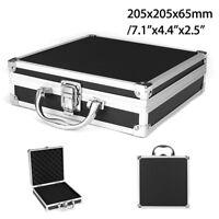Aluminium Koffer 205x205x65mm Münzkoffer Werkzeugkoffer Box Aufbewahrung