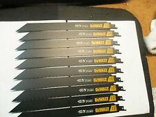 """10-DEWALT 2X DWA41812 RECIPROCATING SAW BLADES 12""""L 14/18 TPI  FOR METAL NEW"""