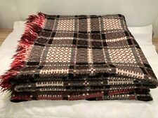 More details for vintage wool welsh blanket 218 x 218 cm immaculate condition