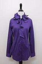 NARACAMICIE Women Mandarin Ribbon Neck Blouse Tunic shirt NWT $135 US Med