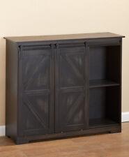New Barn Door Style Buffet Cabinet Vintage Black Home Cabin Rustic Western Decor