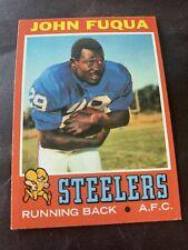 1971 Topps Football #76 John Frenchy Fuqua Rookie EX+ Steelers Morgan Set Break