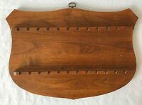 24  Collector spoon display Vintage Wooden Souvenir teaspoon holder wall rack