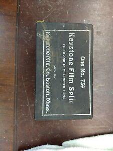 Keystone Film Splicer 8 & 16 Millimeter Films One No.734 Boston MA Vintage b98