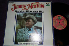 "JIMMY MARTIN  ""Greatest Bluegrass Hits ""  1978 USA LP  GUSTO  GT 0003"
