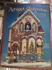 """Victorian House Wooden Christmas Advent Calendar 24"""" Tall 24 Slots Countdown"""