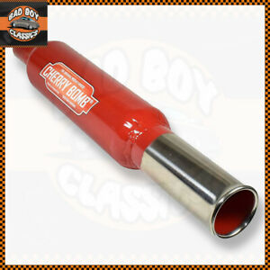 Genuine Cherry Bomb Back Box Round Exit Tail bomb Exhaust Pipe MG, FORD, MINI