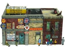 HO Scale Custom Built Painted Weathered Downtown Deco Auto Parts Store Building