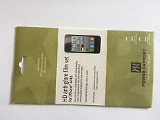 Power support HD Anti-Glare film set screen protector pour Apple iPhone 4/4s