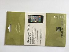 Power Support HD Anti-Glare Film Set Screen Protector für Apple iPhone 4/4S