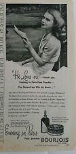1944 Bourjois Evening in Paris perfume face powder he loves me vintage ad