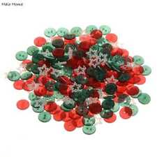 100pcs Mixed Xmas Color Round Resin Buttons Sewing Scrapbooking Decor 13mm
