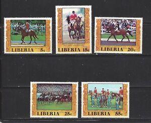LIBERIA - 784-787;C216 - MNH - 1977 - EQUESTRIAN WINNERS, MONTREAL OLYMPICS