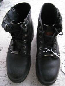 Harley Davidson Women's Riding Leather Zipper Boots #840207 Sz 8.5