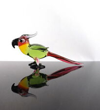 Birthday Gift Amazing Multi Colored Parrot Bird Crystal Glass Figurine Lampwork