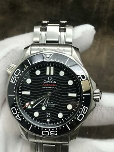 Omega Seamaster Diver 300M Seamaster Black Dial Co-Axial Automatic  Men's Watch