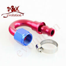 6AN AN6 180 degree Oil/Fuel/Gas Line Hose End Push-On Male Fitting Adapter 6AN