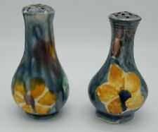 Vintage Salt And Pepper Shakers Mexican Pottery. Hand painted Purchased in 1941