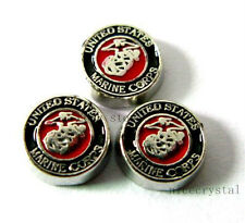 10pcs United States marine corps Floating charms For memory Locket FC273-3
