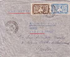 INDOCHINE - LETTRE AVION DE SAIGON POUR GENEVE SUISSE - LE 15-7-1947.