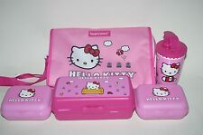 TUPPERWARE HELLO KITTY Lunch Solutions Set Pink Bag Sandwich Keeper Box Cup