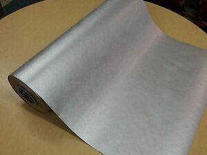 Half ream 26 inch wide silver metallic kraft gift wrap 417 feet