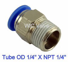 5pcs Male Straight Connector Tube OD 1/4