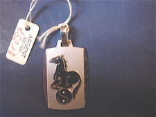 SIGNE DU ZODIAQUE CHINOIS CHEVAL VINTAGE 70 ARGENT  NEUF/ HORSE CHINESE ZODIAC