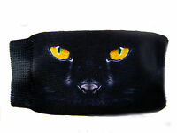 Black cat eyes mobile phone sock universal case cover pouch