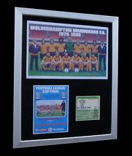 WOLVES / WOLVERHAMPTON 1980 LEAGUE CUP FINAL LTD FRAMED+EXPRESS GLOBAL SHIPPING