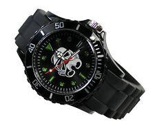 Star Wars Clone Trooper Fashion Boy Man Metal Black Silicone Watch Wrist
