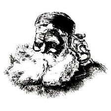 SANTA CLAUS and ELF unmounted rubber stamp Christmas, holiday #13